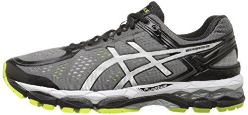 Asics Men S Gel Kayano  Running Shoe Charcoal Silver Lime