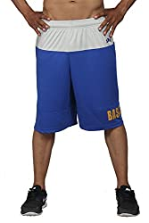 High On Game Basketball Blue and Grey Performance Shorts