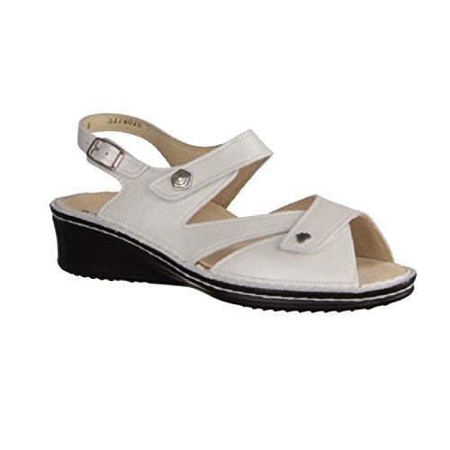 Finn Comfort Santorin - Damenschuhe Sandale bequem / lose Einlage, Beige