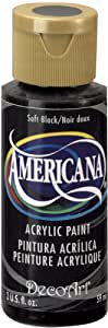 DecoArt Americana Acrylic Paint, 2-Ounce, Soft Black