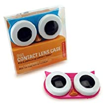 Kikkerland Owl Contact Lens Case Assorted Colors Pink/Blue/Green