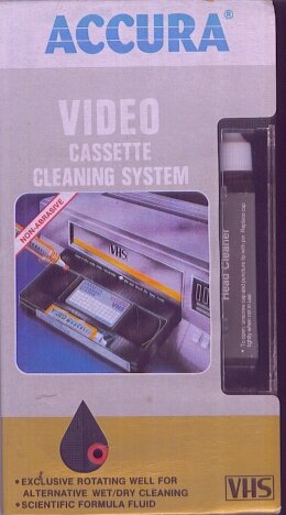 ACCURA -- VIDEO CASSETTE CLEANING SYSTEMACCURA -- VIDEO CASSETTE CLEANING SYSTEM