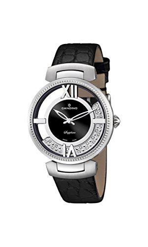 Candino UC4530/2 - Reloj para mujeres, correa de cuero color negro