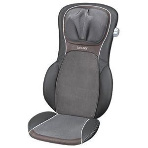 Beurer MG290 - Funda asiento masaje espalda Shiatsu, 60 W, color negro/gris