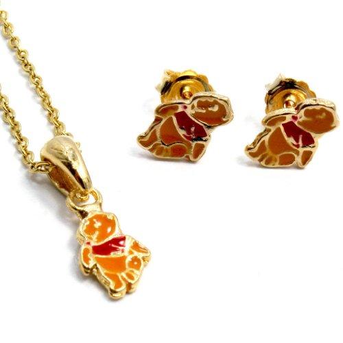 Set Gold Plated Gf Earrings Girl Baby Kids Winnie