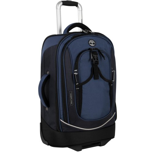 Timberland Luggage Claremont 21 Inch Rolling Upright, Blue/Navy/Black, One Size front-90781
