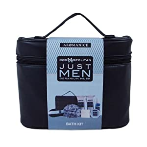 Bath gift set just men geranium musk for Mens bath set