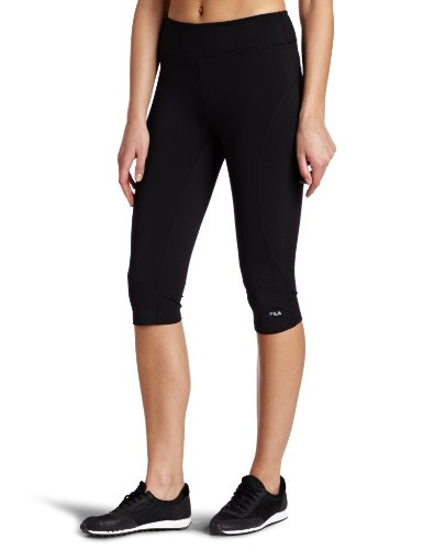 Fila Women's Resistance Tight Capri, Black, Large