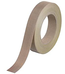 """Teflon T964223 PTFE Glass Cloth Backing Adhesive Tape, 36 yds Length x 3/4"""" Width, 12 mil Thick, Brown"""