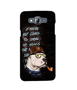 Fuson 2D Printed QuotesDesigner back case cover for Samsung Galaxy J7 - D4160