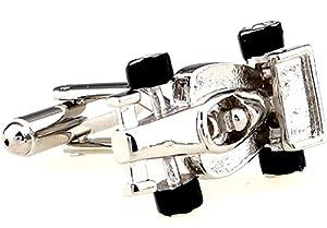 Race Car Indy F1 Formula One Cufflinks with a Presentation Gift Box