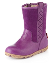 Walkmates Leather & Suede Quilted Boots
