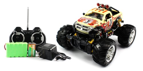 Big Size QUALITY Electric Full Function 1:16 GRAFFITI Dodge RAM 2500 Monster RTR RC Truck (Colors MAy Vary) QUALITY Remote Control RC Trucks w/ Working Suspension