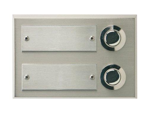 REV Ritter 0504371555 Double Door Bell Panel on Plaster Real Metal