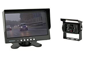 7 inch TFT color monitor + Color Camera IP67 including 20 meter connection cable (12-24 Volt)