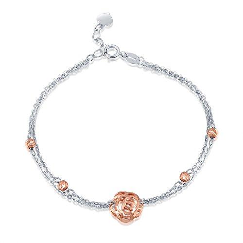 14-ct-585-oro-bianco-e-rosa-puff-filigrana-rosa-e-perline-doppia-catena-braccialetto-65-gioielli-reg