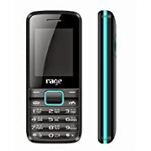 Rage Prince (Black+Blue) Colour Dual SIM Mobile with Camera & FM Radio