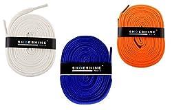 Sport Flat Shoelace (White, Indigo, Orange)