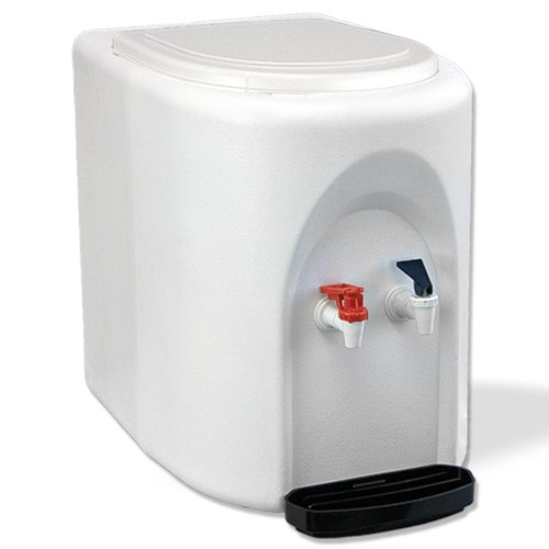 White BottleLess Countertop Water Purification Cooler with 1,200-Gallon capacity water filtration and installation kit. From BottleLess Direct (Model: BDX1-CTWK). Dispenses Hot & Cold water. (Also available in black)