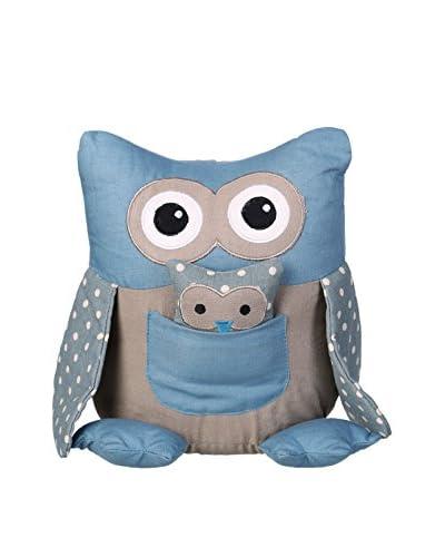 Tope Para Puerta Owl Azul