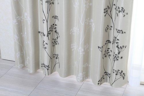 【遮光】既製ドレープカーテン*ハーバル(ベージュ) 巾200×丈178cm 厚地1枚