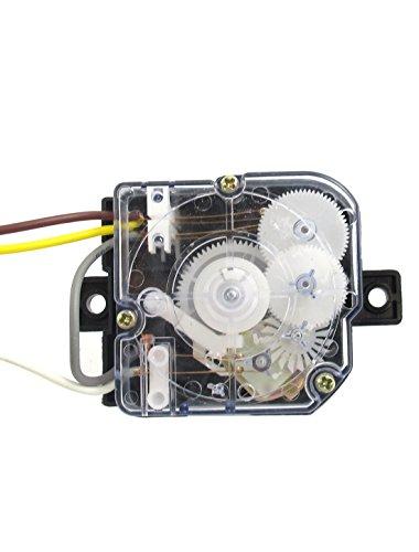 [해외]Uxcell DXT15 AC 250V의 3A 3 전선 블랙 클리어 기계 세탁기 타이머를 세척/Uxcell DXT15 AC 250V 3A 3 Wires Black Clear Washing Machine Washer Ti