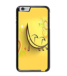Fuson Premium Artistic Moon Metal Printed with Hard Plastic Back Case Cover for Apple iPhone 6 Plus