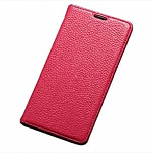 Fashion Flip Stand Leather Case Cover For Huawei Honor 3X-Rose Red