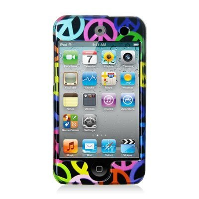 Peace Sign Design Crystal Hard Skin Case Cover for Apple Ipod Touch iTouch 4th Generation 4g 4 8gb 32gb 64gb New By Electromaster