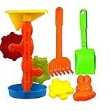 Juguetes de Playa, Wolfbush 5 Piezas Plástico Arena Palas Set con Bolsa Malla Entretenimiento para Niños - Color Al Azar