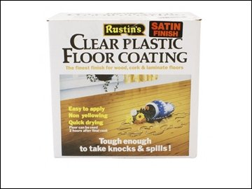 Rustins Plastic Floor Coating Kit Satin 4 Litre RUSPCFS4L