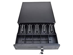 TMS Cash Register Drawer Box 5 Bill 5 Coin Tray Compatible Works with POS Printers RJ11