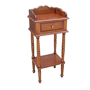 Small telephone table solid mahogany accent mah amazon for Small bathroom accent tables