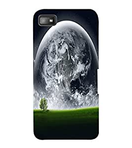 ColourCraft Moon View Design Back Case Cover for BLACKBERRY Z10