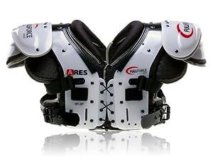 Football Shoulder pads Ares Multi Position LB/RB/OL/DL Black black Size:M