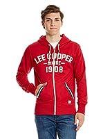 Lee Cooper Sudadera con Cierre Frant (Rojo)