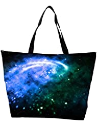 Snoogg Blue Galaxy Background Waterproof Bag Made Of High Strength Nylon