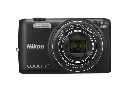 Nikon COOLPIX S6800 16 MP Wi-Fi CMOS Digital Camera with 12x Zoom NIKKOR Lens and 1080p HD Video (Black) Big SALE