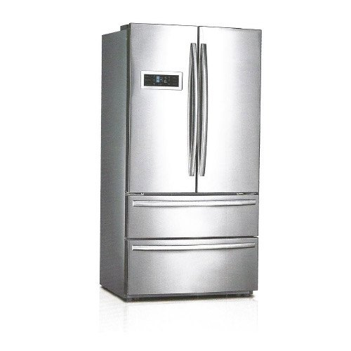 Midea Hc767We 20.8 Cuft 4 Door Led Refrigerator, Stainless Steel