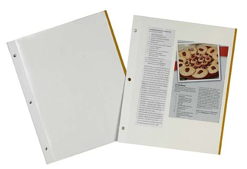 Meadowsweet-Kitchens-Self-Adhesive-Magnetic-Pages-for-Recipe-Clippings-for-3-ring-binders