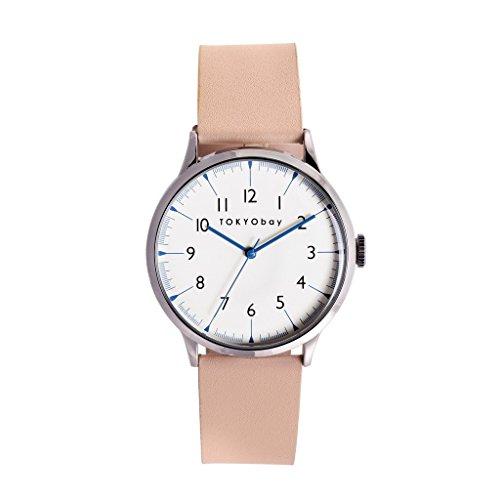 tokyobay-t339-be-da-donna-in-acciaio-inox-quadrante-bianco-in-pelle-beige-smart-watch