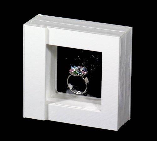 Schmuckdisplay MAGIC 1 weiß 8 x 8 cm Schmuckpräsentation Schmuckständer Schmucketui Fotodisplay Display zum Fotografieren Warenpräsentation Warenständer
