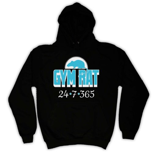 My Icon Men's Gym Rat Weightlifting Adults Hoodie, Black, 2XL