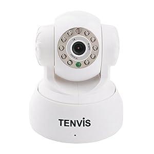 """Tenvis TR3818/TR3818W CCTV Caméra IP de surveillance, sécurité wifi sans fil d'intérieur à capteur CMOS 1/4"""" 300 000 Pixels, IP caméra support la technologie P2P ,LED infrarouge de 10 PCS Distance de vision nocturne jusqu'à 10 mètres(Blanc) de GLOBALEBUY"""