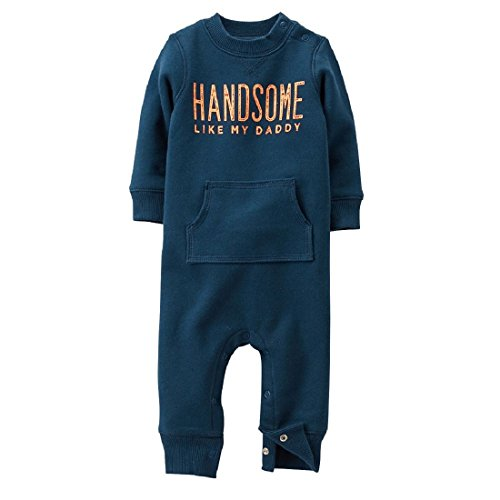 """Carter'S Baby Boys """"Handsome Like My Daddy"""" 1-Pc French Terry Jumpsuit (9 Months) front-179127"""