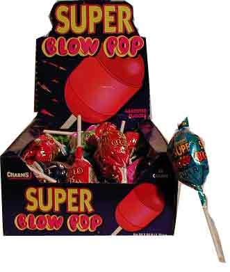 Charms Super Blow Pops (Blo Pops) Lollipops