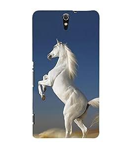 Graceful White Horse 3D Hard Polycarbonate Designer Back Case Cover for Sony Xperia C5 Ultra Dual :: Sony Xperia C5 E5533 E5563