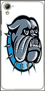 Snoogg Bulldog Dog Head Mascot Designer Protective Back Case Cover For HTC Desire 826