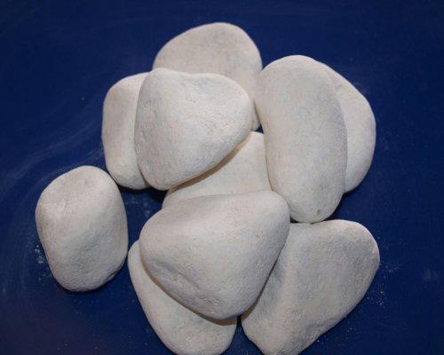 Blanco piedras decorativas para chimeneas de gel y etanol (10)