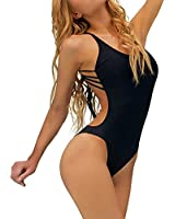 Dtanmiao Women's Back Bandage Padded One Piece Set Swimwear